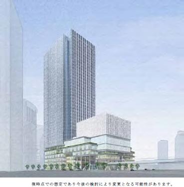 梅田3丁目計画(仮称)再開発ビル 2024年3月 ...